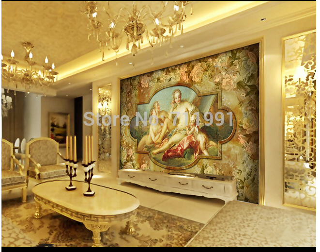 Custom large 3D murals angel love European television sofa bedroom wall mural wallpaper background papel de parede 3d custom the house full of romantic love sea murals large mural peacock bedroom wallpaper tv wall wallpaper
