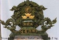 43. cm */South China Tajwan jade carving a dobrze prosperujący biznes smok plotki