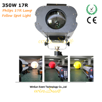 Litewinsune 4pcs per lot Free Stand DJ Light 17R Spot Focus Follow Light