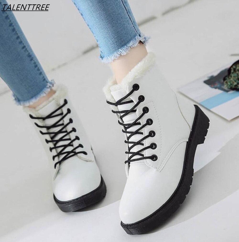 Alta Mujer white Encaje red Cómodas De Tobillo Zapatos Cálidas Botas 2018 Terciopelo Calidad Black Goma Más Invierno Plataforma xtzqTTp8w