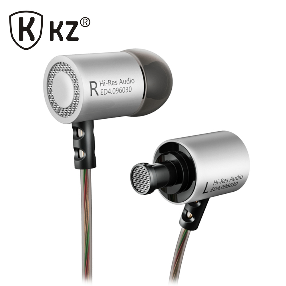 KZ ED4 In Ear Earphone fone de ouvido Earbuds Original KZ HiFi auriculares Music Headset Auriculares Noise Cancelling Stereo original brand bluedio s6 wireless bluetooth 4 1 sports earphone stereo in ear earphone music noise isolating fone de ouvido