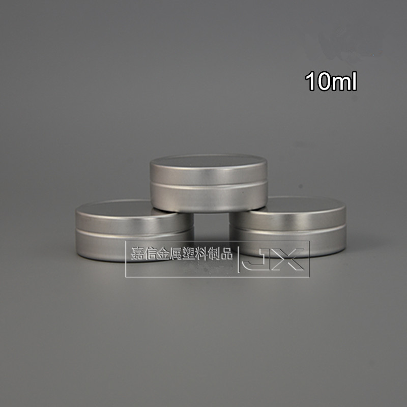 200 x 10ml shallow metal tins with lids lip balm container jar