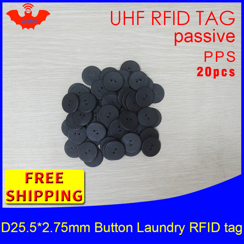 UHF RFID Tag Heat And Water Resisting EPC 6C 915mhz868mhz860-960MHZ H3 20pcs Free Shipping Smart Passive PPS RFID Laundry Button