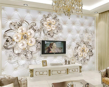 Custom high wallpaper wallpaper background photography software diamond jewelry flower bathroom mural living room decoration  цена 2017