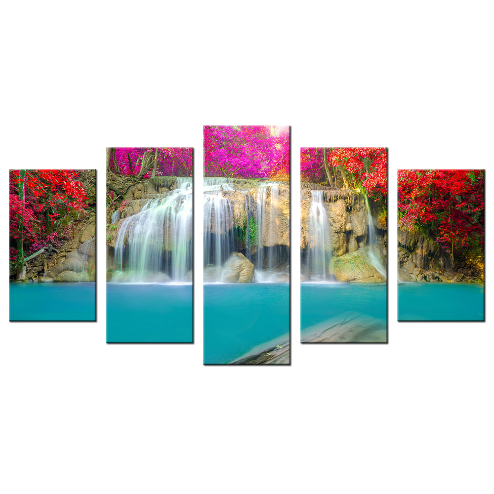 Modern Lanscape Wall Art For Home Decoration Autumn Leaves ... - photo#25