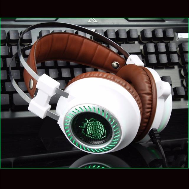Estéreo más nuevo V2 auriculares Gaming Headset gamer Luz LED Hi-Fi Auriculares MP3 con micrófono para ordenador PC fone de ouvido