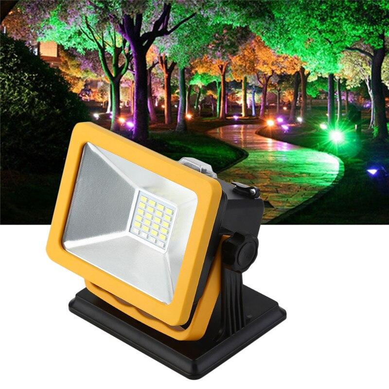 Portable SpotLightsRechargeable LED Flood light 15W Waterproof IP65 Spotlights Emergency Light led spot light outdoor yellow