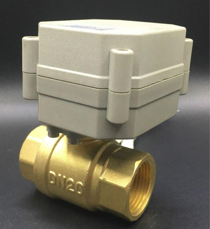 Sanitär Tf20-b2-a Bsp/npt 3/4 messing Elektrische Motorisierte Ventil Dc12v/dc24v 2/3/5/7 Drähte 2-wege-dn20 Volle Bohrung Für Wasser Control