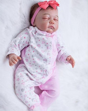50cm Doll Reborn Babies Silicone Bebe Reborn Lifelike Realistic Baby Dolls Kids Growth Partners Birth Reborn Christmas Gifts цена