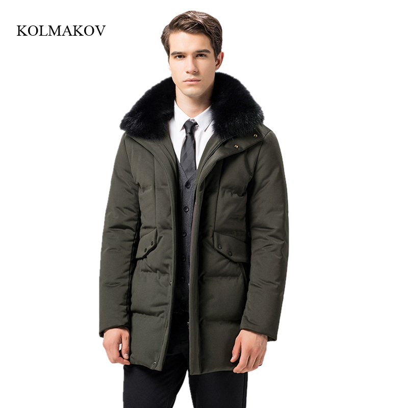 New arrival winter style men high-end down coats fashion casual datachable hair collar mens thick solid zippers coat size M-3XL