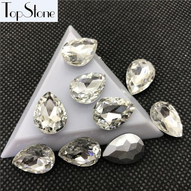 ecba2bcbc759 Lágrima Color cristalino de lujo de piedra 6x8