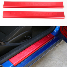 Silver Red Blue Aluminium Alloy Door Sill Protector Scuff Plate Entry Guard Outer Barrier Bar For & Entry Barriers Promotion-Shop for Promotional Entry Barriers on ... Pezcame.Com