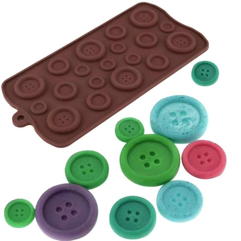 Button Shapes DIY Chocolate Ice Silicone Mold Candy Mould Cake Bake Tools