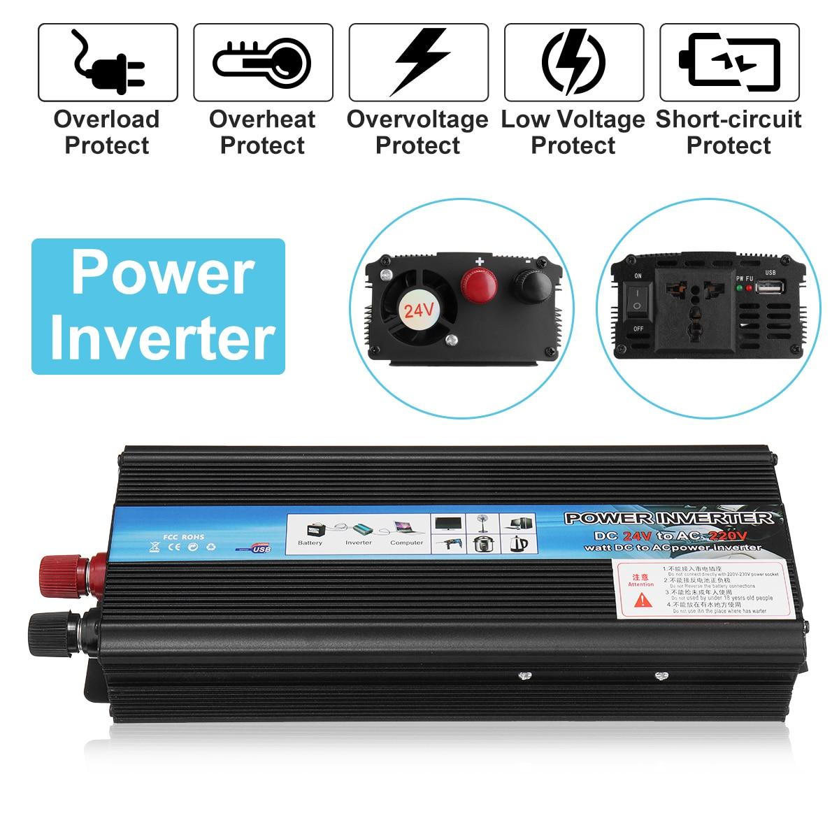 Inverter 12 v 220 v 3000 watt 4000 watt 5000 watt Peak Power Spannung Transformator Konverter 12 v Zu 220 v Solar Sinus-wechselrichter