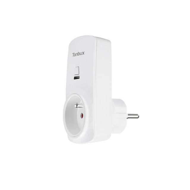 Tonbux AU/FR/EU Plug Smart Wifi Plug LED Light Display Max 250V Google Home  & Alexa Control