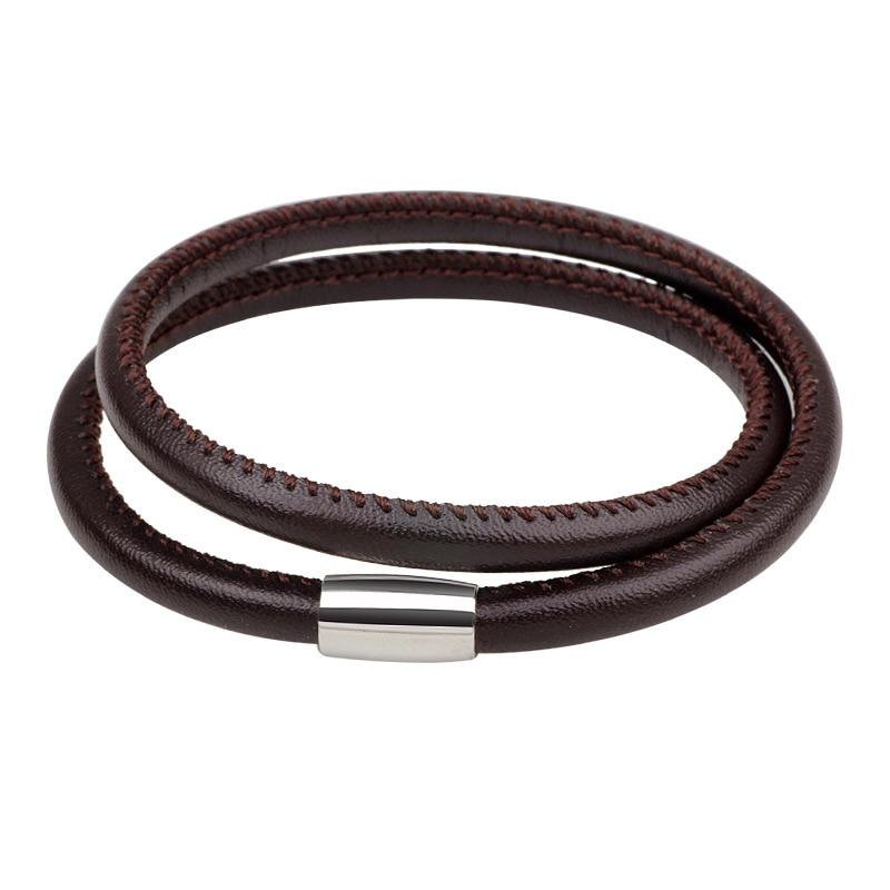 Купить кожаный браслет 41 см в европейском стиле модный мужской из