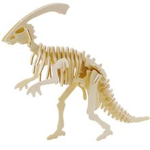 Freeshipping Educational Toys Wooden Horned Dinosaur Model 3D Puzzle Assembling Miniature