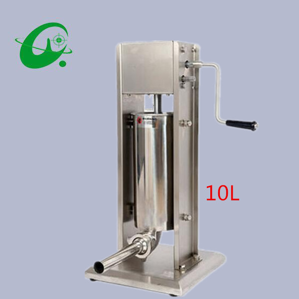Stainless steel Vertical Commercial horizontal Sausage Stuffer Filler Machine Manual 10L enema machine sausage filler 15lb 7l 7 litre manual sausage filler stainless steel vertical sausage stuffer commercial restaurant pork meat