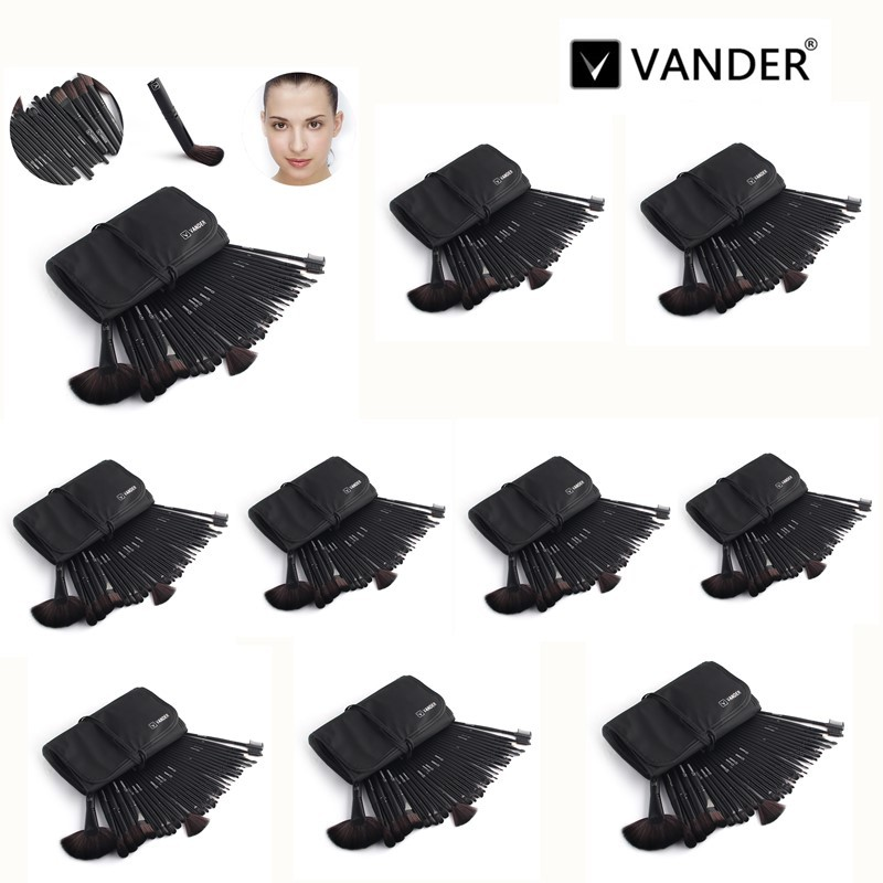 VANDER Classic Black 10*32pcs/Lot Makeup Brush Set Cosmetic Brushes Foundation Powder Blush Eyeliner pincel maquiagem w/ Bag vander 5 32pcs makeup brush set