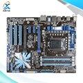 Para asus p7p55d original usado madre de escritorio de intel p55 socket LGA 1156 Para i3 i5 i7 ATX DDR3 16G eSATA En venta