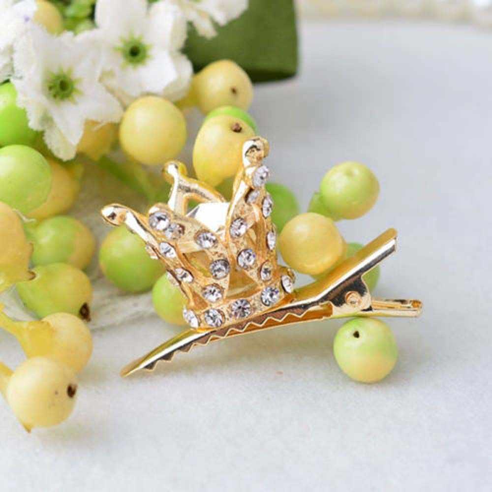 ใหม่มาถึงเลื่อม Crown PARTY จระเข้ Barrette คลิปของขวัญแฟชั่นเครื่องประดับผมอุปกรณ์เสริมสำหรับเจ้าสาวงานแต่งงาน