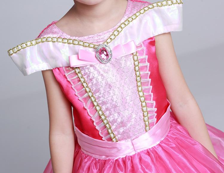 langes Mädchenkleidprinzessin-Schlafschönheit formales Kleid - Kinderkleidung - Foto 6