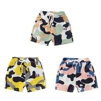 Summer Children Boys Print Short Pants Trousers Kids Knee Length Casual Cotton Shorts for Boy