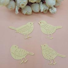 Штампы с птицами 4 шт металлические высечки для рукоделия изготовление