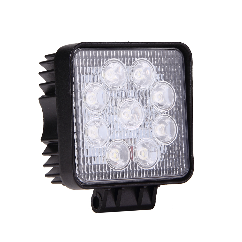 Auto LED Work Light Universal for Cars Trucks SUV Jeep Flood Beam Square Lamp 6500K 27W