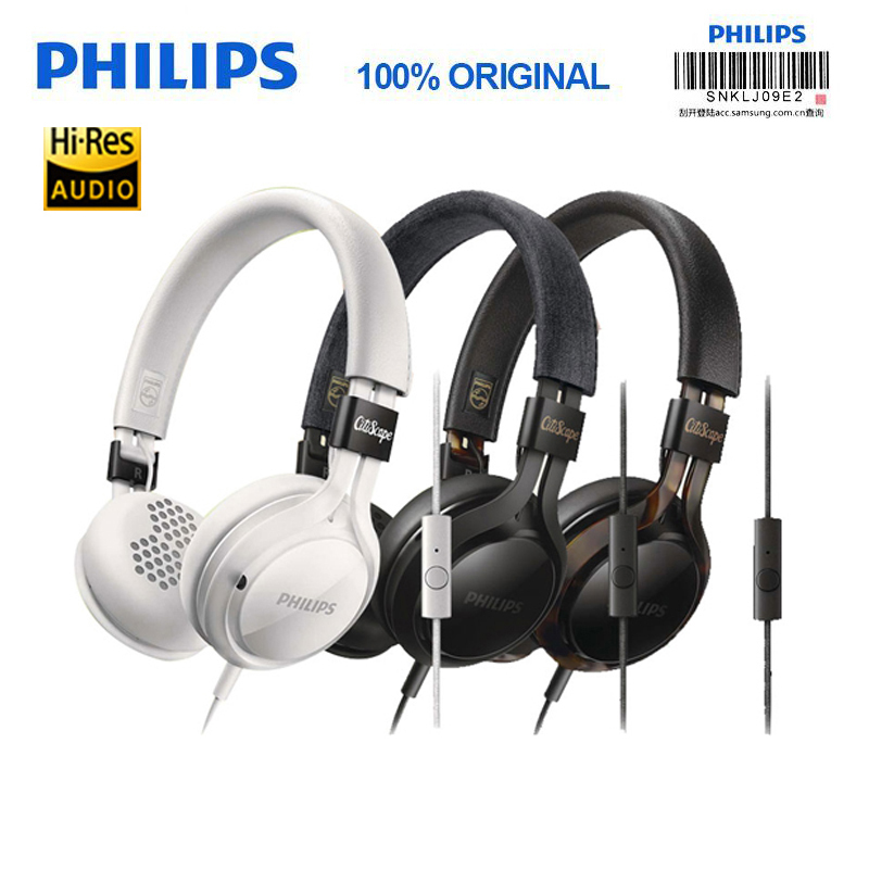 100% Genuine Philips SHL5705 Bass Headphones with Microphone Mobile Computer Games Universal Wire Control Headphone for Xiaomi