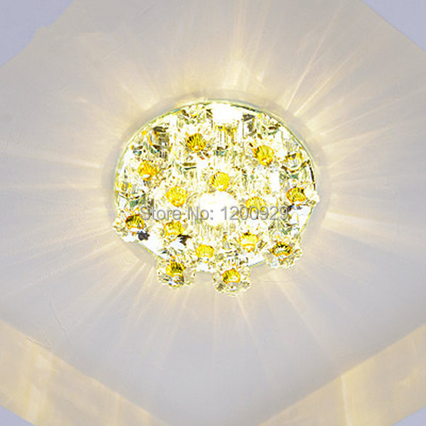 ФОТО Wonderland LED Crystal Glass Sun Flower Creative Modern Ceiling Light CE Light Aisle/Doorway for Living/Dining Room D-04
