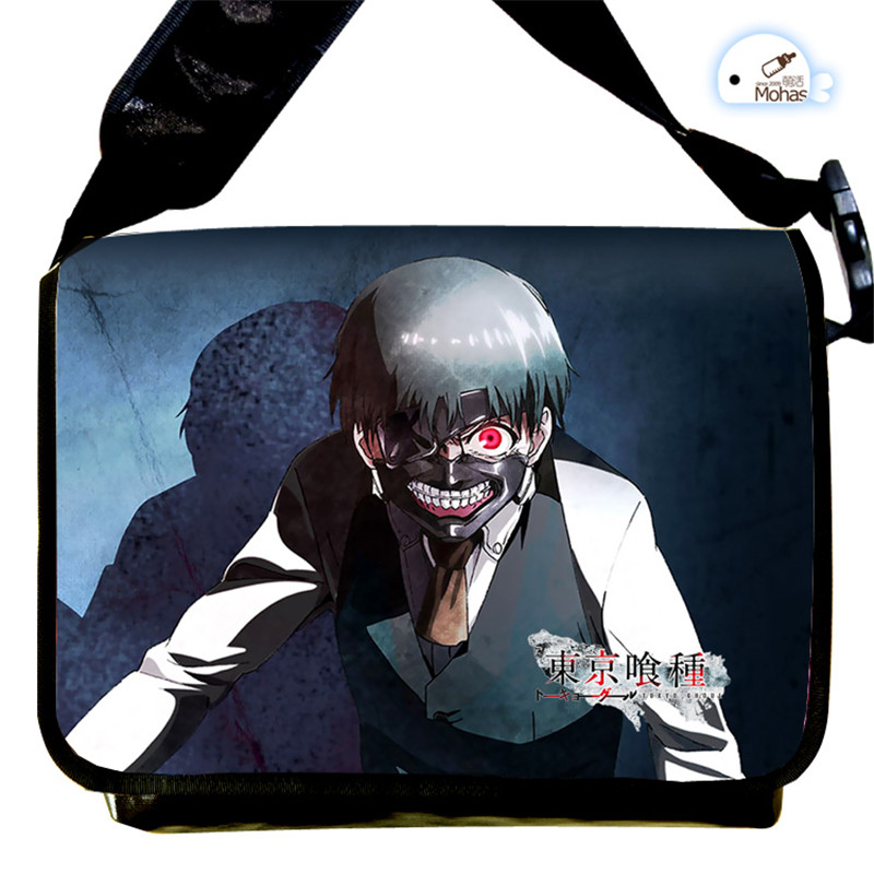 Free Shipping Tokyo Ghoul Ken Kaneki Cartoon Cosplay Messenger Bag Students Book Schoolbag Crossboy Bags