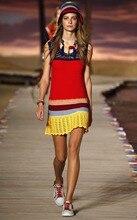 Free Shipping Hot Sale Summer Women Crochet beach Dress Beautiful Women Patchwork Crochet Knit Short Dress