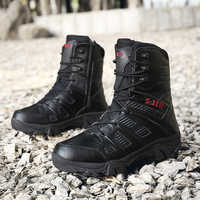 Tactical Boots Military Desert Combat Boots Outdoor Shoes Men Boots Waterproof Tactical Shoes Military Krasovki Men XX-385