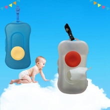 Baby Travel Wipe Case Child Wet Wipes Box Changing Dispenser Storage Holder 2017 New Tissue Boxes Papers Towel Storage Box(China)