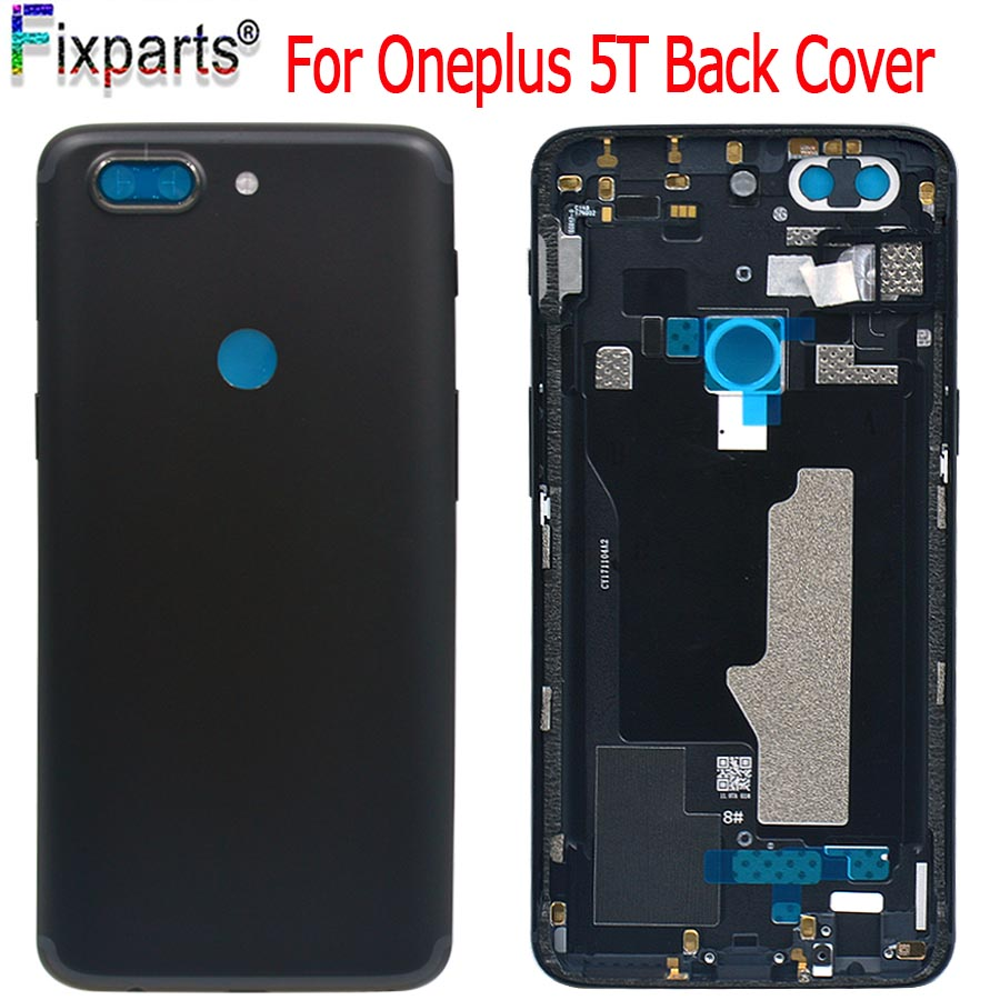 """For Oneplus A5010 5T Back Battery Cover Rear Door Housing + Camera Lens Case Middle Chassis 5.5"""" For OnePlus 5T Housing"""