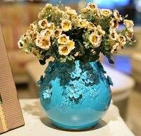 Ручной работы, вазы украшения высококлассные Европейском стиле гостиной украшения дома ремесел керамические простой цветочный искусство