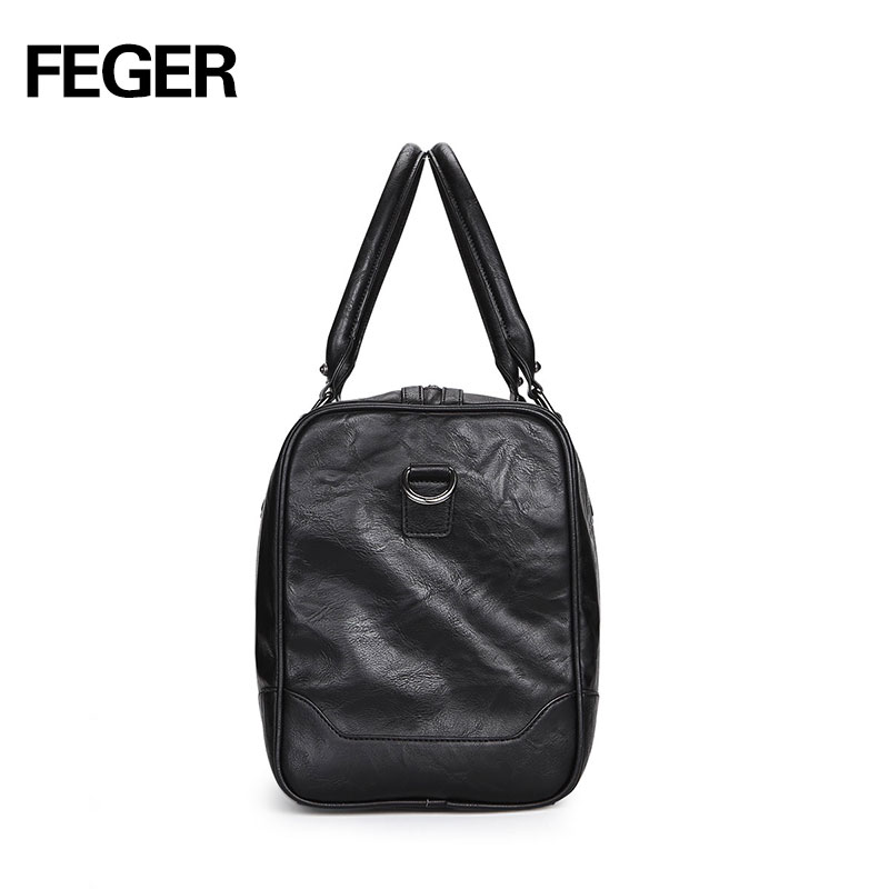 8379d35287da FEGER brand fashion extra large weekend duffel bag large PU business men s  travel bag popular design duffle-in Travel Bags from Luggage   Bags on ...