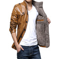 Winter Leather Jacket Men Thickening Warm Windbreak Outwear Fur Collar mens leather Jackets and Coats Plus Size M-4XL