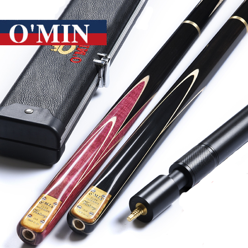New Arrival Omin 3 4 Snooker Cues Victory Model 9.5mm/10mm Tips 3/ 4 Snooker Cues Case Set China ...
