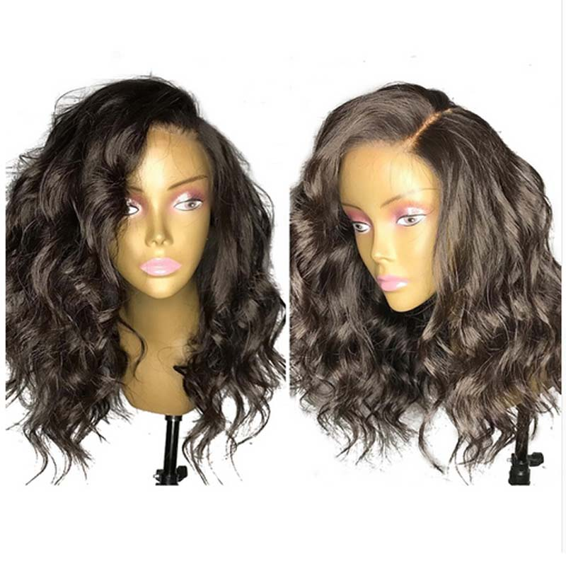 LUFFYHAIR Left Side Part Loose Wave Lace Front Wigs 13x6 Deep Part Remy Brazilian Short Human Hair Lace Front Wig With Baby Hair
