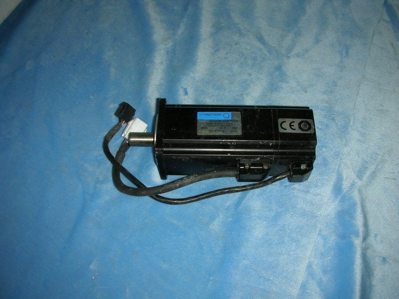 1PC USED SANYO servo motor Q1AA06040DXP00M
