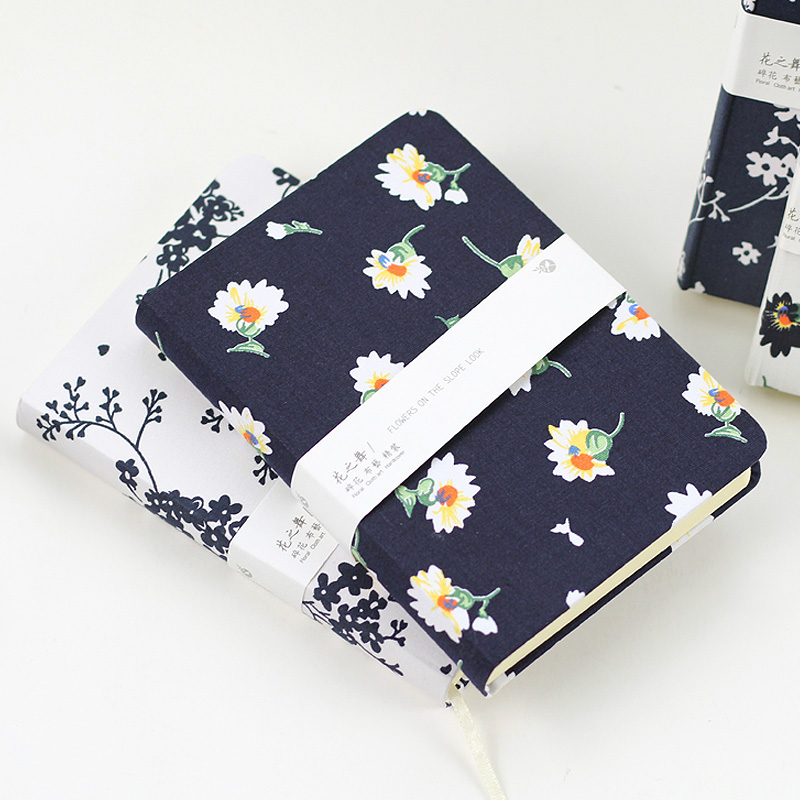 Mercii New Arrival Floral Flower Notebook Schedule Book Diary School Office Supplies Kawaii Stationery Chinese Painting Notepad