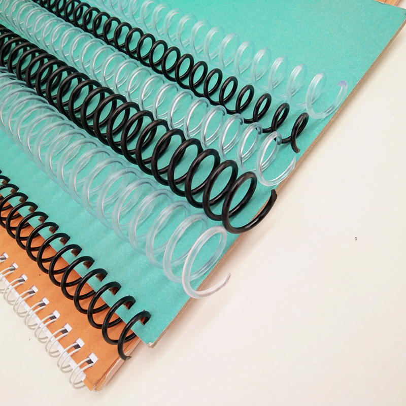 10Pcs A4 46 Hole Plastic Spiral Coil For Loose-leaf Notebook Binding 6mm 8mm Binder Clip Coil PP Spring Punch Ring Office Supply