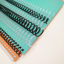 10Pcs A4 46 Hole Plastic Spiral Coil For Loose-leaf Notebook Binding 6mm 8mm Binder Clip Coil PP Spring Punch Ring Office Supply недорого