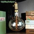 Tamanho grande R160 edosin lâmpada Edison vintage luz lâmpada projeto de filamentos em espiral lâmpada incandescente retro luz 120 V 220 V 60 watt