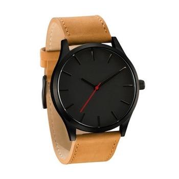 2021 NEW Luxury Brand Mens Watches Sport Watch Men's Clock Army Military Leather Quartz Wrist Watch Relogio Masculino - brown black