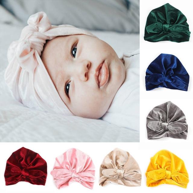 Newborn Baby Hat Soft Cotton Baby Cap Bonnet Enfant Baby Photography Props  Lovely Girl Bowknot Beanie 71ce2ee7e4e2