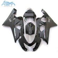 Verbesserte ihre Verkleidung kits für SUZUKI 2004 2005 GSXR600 750 motorrad verkleidungen kit 04 05 GSXR750 GSXR 600 K4 K5 alle schwarz SZ24