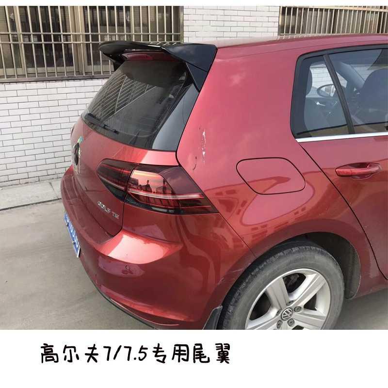 Aile de toit Aspec style pour Golf7 MK 7 MK7.5 style de voiture ABS plastique mat aileron de lèvre arrière pour Golf 7 2014-UP